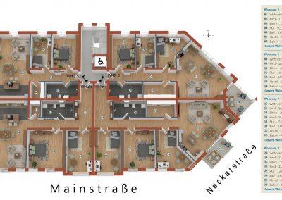 Limburgerhof 1. Obergeschoß Grundriss