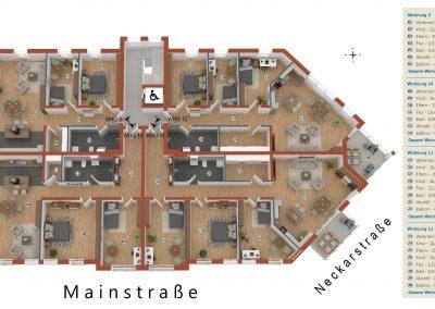 Limburgerhof 2. Obergeschoß Grundriss