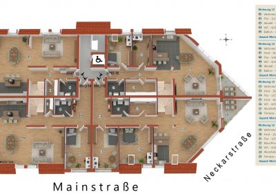 Limburgerhof Dachgeschoß Grundriss